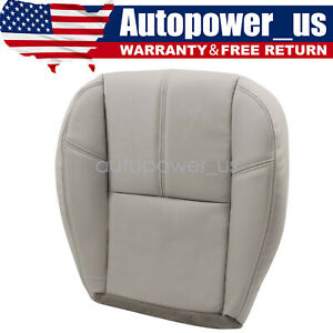 Fits Chevy Silverado 1500 2007 2008 2009 Driver Bottom Leather Seat Cover Gray