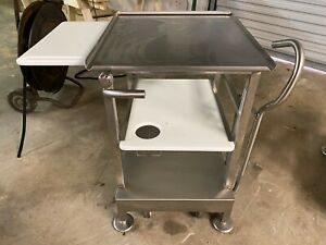 2017 M e Face To Face Commercial Hobart Berkel Bizerba Meat Slicer Rolling Stand
