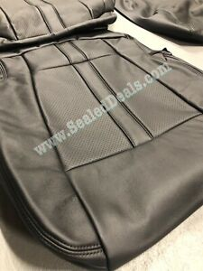 Ford F 150 Xlt Supercrew Black W Black Stitching Leather Seat Covers Upgrade