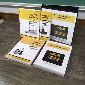 Service Parts Manual For John Deere 450b Jd450b Crawler Dozer Tractor Repair