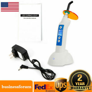 Dental Curing Light Led Wireless Cordless Curing Lamp 1500mw 5w Usa Stock