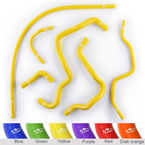 Silicone Heater Coolant Hoses Kit For Honda Civic D17 1 7l 2001 2005 Yellow