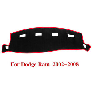 Carpet Dashboard Cover Dash Mat Protector For 2002 2008 Dodge Ram 1500 2500 3500