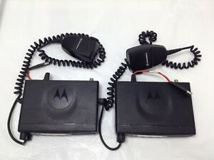 Lot Of 2 Motorola Cm300 Vhf 32ch 45w Mobile Two way Radio With Mic