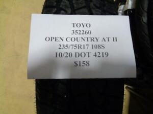 1 New Toyo Open Country At Ii 235 75 17 108s Tire Wo Label 352260 Q0
