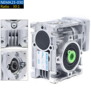 Gearbox Nmrv30 Turbo worm Gear Reducer Ratio 30 1 Square Flange For Nema23 Top