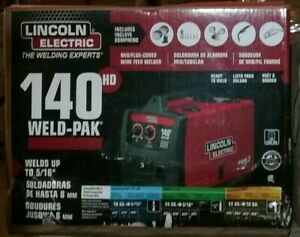 New Lincoln Electric 140 Amp Weld Pak 140 Hd Mig Wire Feed Welder With Magnum