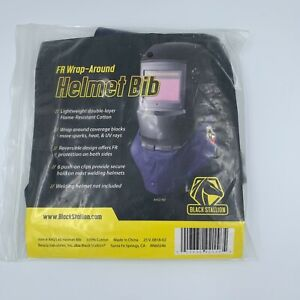 Black Stallion Welding Helmet Bib Blue Fr Wrap around