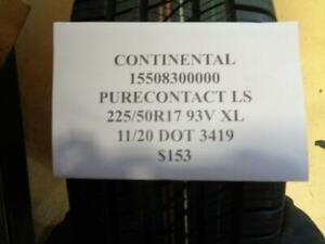 1 New Continental Pure Contact Ls 225 50 17 93v Xl Tire 15508300000 Q0