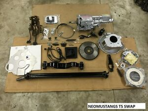 87 93 Ford Mustang T5 Transmission Swap Complete Aod To 5 Speed Conversion Kit
