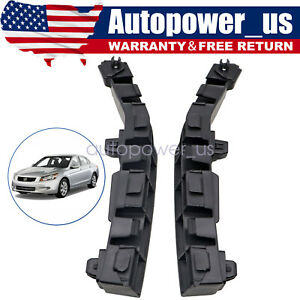 Pair Front Bumper Bracket Beam Mount Support For Honda Accord 2008 2012