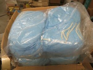 100 Pcs Blue Sealed Disposable Polypropylene Shoe Covers 1 One Size Fits All
