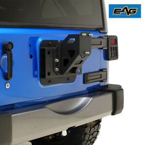 Eag Fit 2007 2018 Jeep Wrangler Jk Adjustable Tire Carrier Mount Black Steel