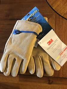 Wells Lamont Hydra Hyde Adjustable Cowhide Leather Work Gloves Size L Large