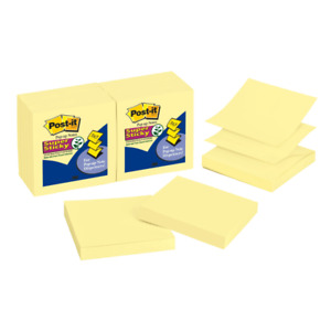 Post It Notes Super Sticky Notes Pop up 3 X 3 Canary Yellow Pack Of 12 Pa