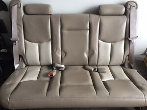 2000 2006 Gmc Yukon Xl Suburban 3rd Third Row Seat Leather Two Tune Beige Color
