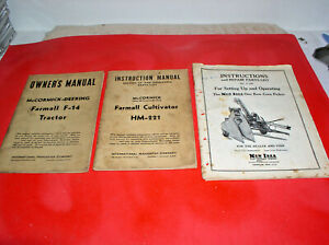 Farming Equipment Manual Vintage Lot Of 3 Two Mccormick One New Idea