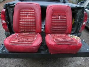 Ford Bronco Red Bucket Seats 1970 S Eary 80 S