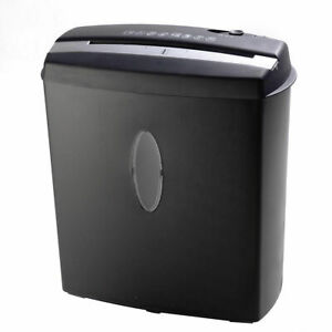 New 10 Sheet Cross cut Paper credit Card staples Shredder W Basket Home Office