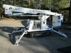 2010 Terex Lt 40 One Man Bucket Rubber Track Mounted Aerial Lift
