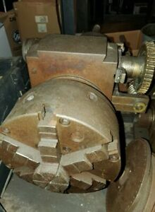 Indexing Head Rotary Milling Machining 6 Jaw Chuck