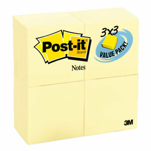 Post it Notes value Pack 3 x3 90 Shts 24 pk canary
