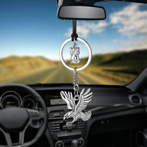 Car Hanging Pendant Owl With Eagle Rearview Mirror Charms Decoration Accessories