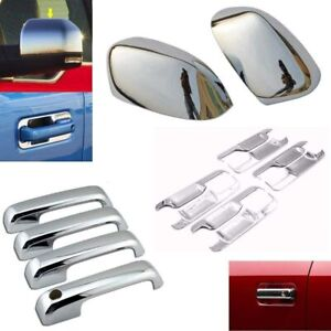 For 2015 2020 Ford F150 Chrome Mirror Covers 4 Door Handle Bowl Plate Covers