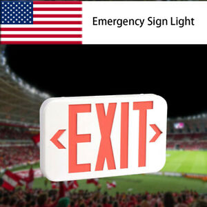 Abs Red Led Exit Sign Ul listed Emergency Light Dual Led Lamp Fire Resistance