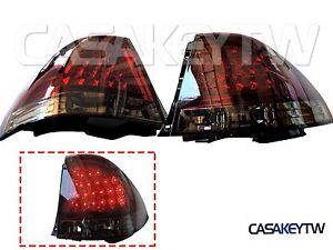 New Led Red Smoke Tail Lights Rear For Lexus Is200 Is300 1998 05 Altezza Lis3