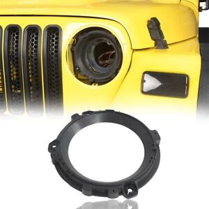 2pcs Black 7 Headlight Mount Bracket Plastic Ring For 97 2006 Wrangler Jeep Tj