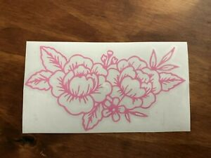 Peony Pink Flower Vinyl Decal Sticker For Car Window Laptop Or Phone Case