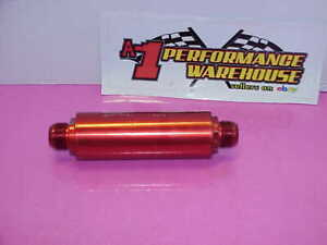 Red Billet Aluminum Inline Oil Filter 16 An Fittings System 1 Peterson Dr4