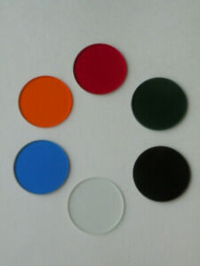 Set Of 6 Glass Filters For Microscope Lomo D 33 3mm