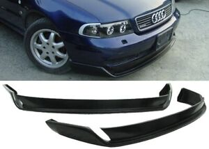 For 96 01 Audi A4 B5 Type O Urethane Bumper Lip Spoiler Chin Valance Unpainted