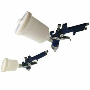 Hvlp Gravity Feed Spray Gun 1 4mm 0 8mm Primer Gun With 600cc 250cc Plastic Cup