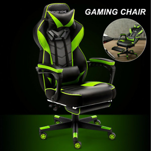 Racing Gaming Chair Ergonomic Leather Swivel Office Computer Desk Seat Recliner