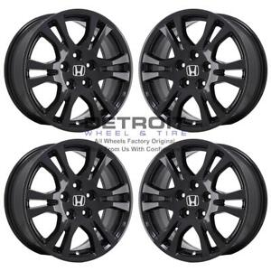 17 Honda Odyssey Gloss Black Wheels Rims Factory Oem 64019 2011 2018 Set