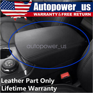 Real Leather Black Center Console Lid Armrest Cover For 11 18 Ford Explorer