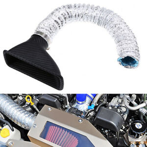 1 Pcs Universal Car Front Bumper Cold Air Intake Filter Injection System Funnel