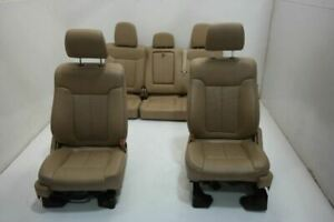 11 14 Ford F150 Pickup Right Left Front Rear Seat Bench 40 20 40 Leather Tan