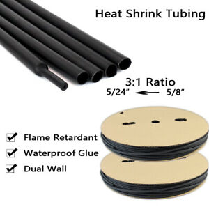 5 8 Heat Shrink Tubing 3 1 Adhesive lined Heat Shrinkable Tube Waterproof 14ft