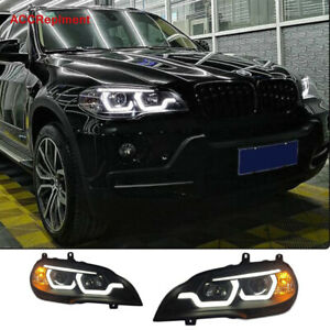 New Upgrade For Bmw X5 E70 Headlights Assembly 2007 2013 Projector Led Drl