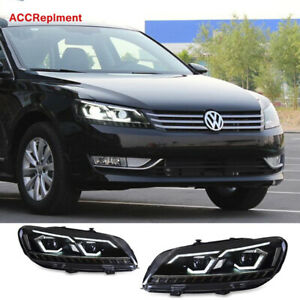 2012 2015 New Upgrade For Vw Passat Headlights Assembly Double Beam Projector