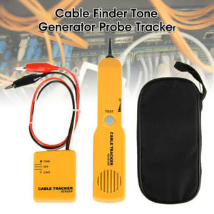 Rj11 Line Finder Cable Tracker Tester Toner Electric Network Wire Tracer Kit