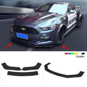 3pcs Abs Front Bumper Lip Chin Spoiler Splitters Body Kit For 2013 Honda Civic