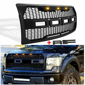Raptor Style Front Grill Grille Mesh For 2009 2014 Ford F150 W Full Letters Usa