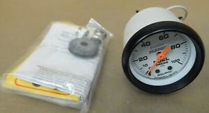 Autometer 5712 Phantom Series Fuel Pressue Gauge 0 100 Psi 2 1 16 Dia Mech