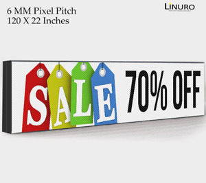 Outdoor Led Digital Sign 120x22 Inch Advertisement Screen