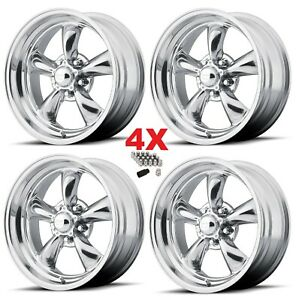 15 Staggered American Racing Wheels Rims Thrust Ii 5x4 75 5x120 65 15x7 15x8